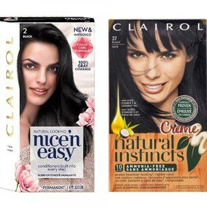 Bundle of Two Clairol Hair Color Black